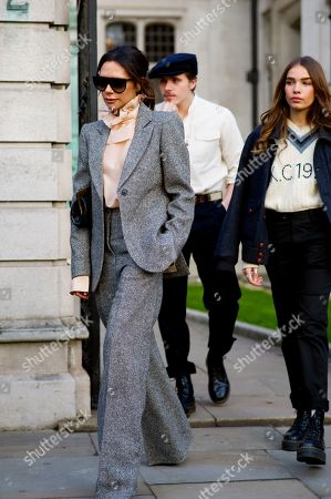 Victoria Beckham, Brooklyn Beckham and his girlfriend Hana Cross