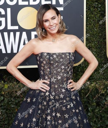 Keltie Knight arrives for the 76th annual Golden Globe Awards ceremony at the Beverly Hilton Hotel, in Beverly Hills, California, USA, 06 January 2019.