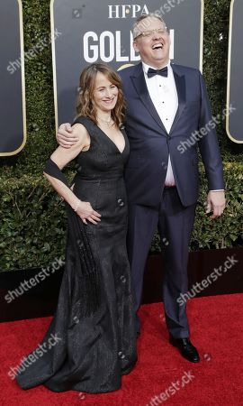 Adam McKay (R) and Shira Piven arrive for the 76th annual Golden Globe Awards ceremony at the Beverly Hilton Hotel, in Beverly Hills, California, USA, 06 January 2019.