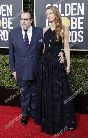 Julian Schnabel (L) and Louise Kugelberg arrives for the 76th annual Golden Globe Awards ceremony at the Beverly Hilton Hotel, in Beverly Hills, California, USA, 06 January 2019.