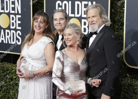 Wndy Bridges, Beau Bridges, Susan Bridges and Jeff Bridges arrives for the 76th annual Golden Globe Awards ceremony at the Beverly Hilton Hotel, in Beverly Hills, California, USA, 06 January 2019.