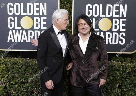 Richard Gere (L) and Kevin Kwan arrives for the 76th annual Golden Globe Awards ceremony at the Beverly Hilton Hotel, in Beverly Hills, California, USA, 06 January 2019.