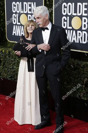 Sam Elliott (R) and Katherine Ross (L) arrives for the 76th annual Golden Globe Awards ceremony at the Beverly Hilton Hotel, in Beverly Hills, California, USA, 06 January 2019.