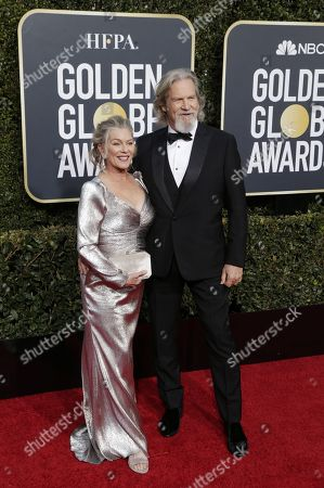 Susan Bridges and Jeff Bridges arrives for the 76th annual Golden Globe Awards ceremony at the Beverly Hilton Hotel, in Beverly Hills, California, USA, 06 January 2019.