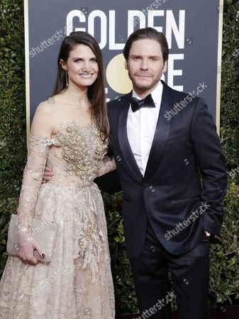 Felicitas Rombold and Daniel Bruhl arrives for the 76th annual Golden Globe Awards ceremony at the Beverly Hilton Hotel, in Beverly Hills, California, USA, 06 January 2019.