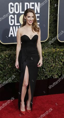Carly Craig arrives for the 76th annual Golden Globe Awards ceremony at the Beverly Hilton Hotel, in Beverly Hills, California, USA, 06 January 2019.