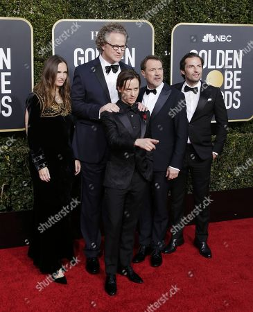 Christiane Asschenfeldt, Florian Henckel von Donnersmark, Tom Schilling, Sebastian Koch and Quirin Berg arrives for the 76th annual Golden Globe Awards ceremony at the Beverly Hilton Hotel, in Beverly Hills, California, USA, 06 January 2019.