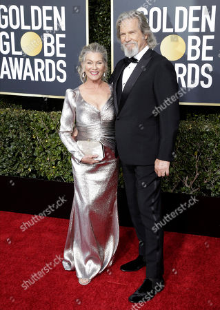 Jeff Bridges (R) and wife Susan Bridges arrive for the 76th annual Golden Globe Awards ceremony at the Beverly Hilton Hotel, in Beverly Hills, California, USA, 06 January 2019.
