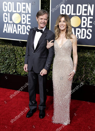 William H. Macy (L) and wife Felicity Huffman arrive for the 76th annual Golden Globe Awards ceremony at the Beverly Hilton Hotel, in Beverly Hills, California, USA, 06 January 2019.