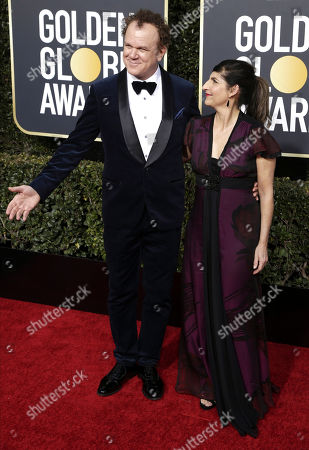 John C Reilly (L) and wife Alison Dickey arrive for the 76th annual Golden Globe Awards ceremony at the Beverly Hilton Hotel, in Beverly Hills, California, USA, 06 January 2019.