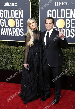 Deidre Ball (L) and Anthony Scaramucci (R) arrive for the 76th annual Golden Globe Awards ceremony at the Beverly Hilton Hotel, in Beverly Hills, California, USA, 06 January 2019. *** Local Caption *** 52514391