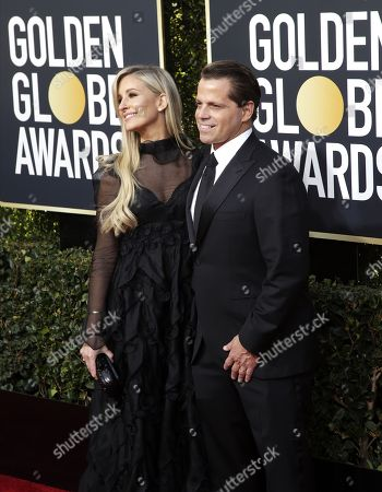 Deidre Ball (L) and Anthony Scaramucci (R) arrive for the 76th annual Golden Globe Awards ceremony at the Beverly Hilton Hotel, in Beverly Hills, California, USA, 06 January 2019.