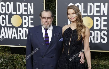 Julian Schnabel (L) and Louise Kugelberg arrive for the 76th annual Golden Globe Awards ceremony at the Beverly Hilton Hotel, in Beverly Hills, California, USA, 06 January 2019.