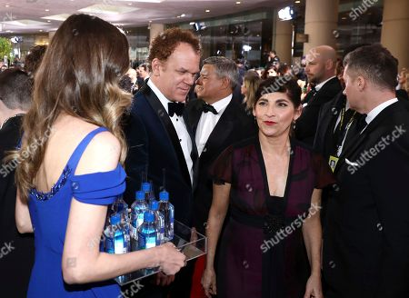 John C Reilly, Alison Dickey. John C Reilly, left, and Alison Dickey at the 76th annual Golden Globe® Awards with FIJI Water