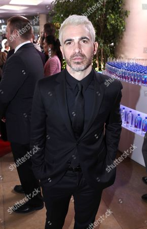 Stock Image of Chris Messina at the 76th annual Golden Globe® Awards with FIJI Water