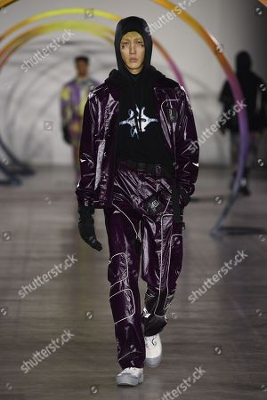 Editorial image of Liam Hodges show, Runway, Fall Winter 2019, London Fashion Week Men's, UK - 05 Jan 2019