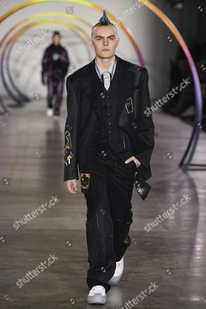 Editorial picture of Liam Hodges show, Runway, Fall Winter 2019, London Fashion Week Men's, UK - 05 Jan 2019