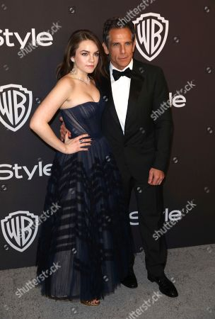 Ella Stiller, Ben Stiller. Ella Stiller, left, and Ben Stiller arrive at the InStyle and Warner Bros. Golden Globes afterparty at the Beverly Hilton Hotel, in Beverly Hills, Calif