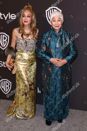 Lisa Lu, Lucia Hwong. Lisa Lu, right, and her daughter Lucia Hwong arrive at the InStyle and Warner Bros. Golden Globes afterparty at the Beverly Hilton Hotel, in Beverly Hills, Calif
