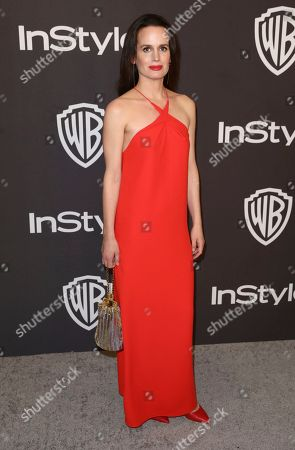 Elizabeth Reaser arrives at the InStyle and Warner Bros. Golden Globes afterparty at the Beverly Hilton Hotel, in Beverly Hills, Calif