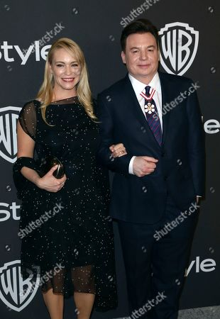 Kelly Tisdale, Mike Myers. Kelly Tisdale, left, and Mike Myers arrive at the InStyle and Warner Bros. Golden Globes afterparty at the Beverly Hilton Hotel, in Beverly Hills, Calif