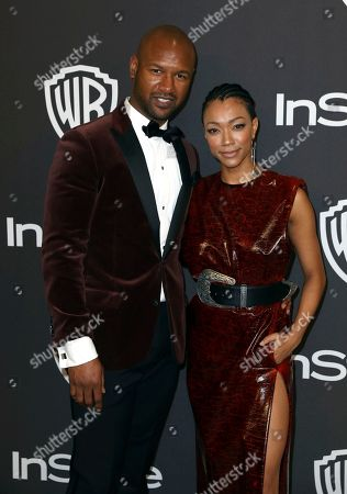 Kenric Green, Sonequa Martin-Green. Kenric Green, left, and Sonequa Martin-Green arrive at the InStyle and Warner Bros. Golden Globes afterparty at the Beverly Hilton Hotel, in Beverly Hills, Calif