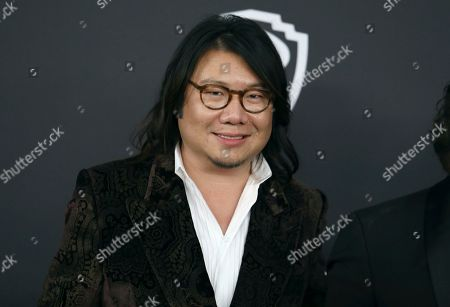 Kevin Kwan arrives at the InStyle and Warner Bros. Golden Globes afterparty at the Beverly Hilton Hotel, in Beverly Hills, Calif