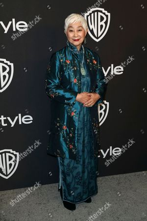 Lisa Lu arrives at the InStyle and Warner Bros. Golden Globes afterparty at the Beverly Hilton Hotel, in Beverly Hills, Calif