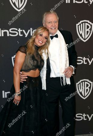 Skyler Shaye, Jon Voight. Skyler Shaye, left, and Jon Voight arrive at the InStyle and Warner Bros. Golden Globes afterparty at the Beverly Hilton Hotel, in Beverly Hills, Calif
