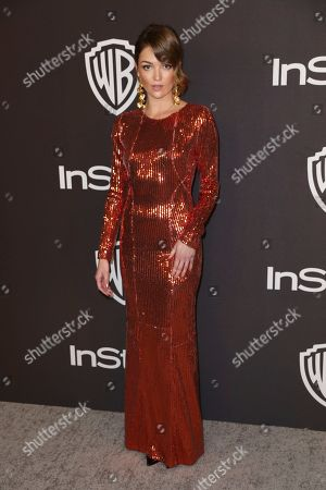 Lili Simmons arrives at the InStyle and Warner Bros. Golden Globes afterparty at the Beverly Hilton Hotel, in Beverly Hills, Calif