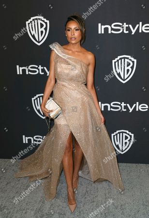 Stock Photo of Desi Perkins arrives at the InStyle and Warner Bros. Golden Globes afterparty at the Beverly Hilton Hotel, in Beverly Hills, Calif