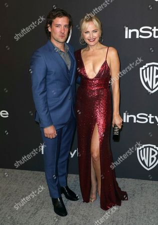 Jack Donnelly, Malin Akerman. Jack Donnelly, left, and Malin Akerman arrive at the InStyle and Warner Bros. Golden Globes afterparty at the Beverly Hilton Hotel, in Beverly Hills, Calif