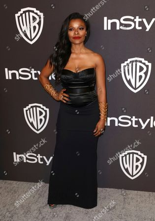 Keesha Sharp arrives at the InStyle and Warner Bros. Golden Globes afterparty at the Beverly Hilton Hotel, in Beverly Hills, Calif