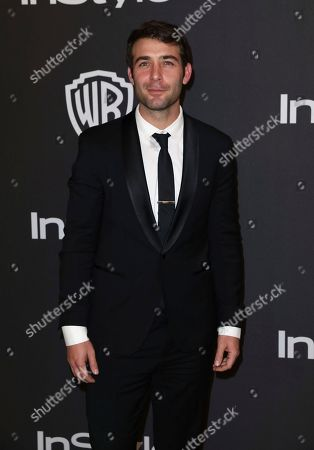 James Wolk arrives at the InStyle and Warner Bros. Golden Globes afterparty at the Beverly Hilton Hotel, in Beverly Hills, Calif
