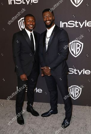 Edwin Hodge, Aldis Hodge. Edwin Hodge, left, and Aldis Hodge arrive at the InStyle and Warner Bros. Golden Globes afterparty at the Beverly Hilton Hotel, in Beverly Hills, Calif