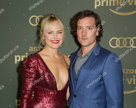 Malin Akerman, Jack Donnelly. Malin Akerman, left, and Jack Donnelly arrive at the Amazon Golden Globes afterparty at the Beverly Hilton Hotel, in Beverly Hills, Calif