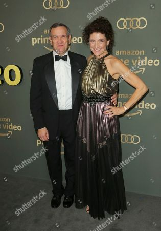 Amy Aquino, Drew McCoy. Amy Aquino, right, and Drew McCoy arrive at the Amazon Golden Globes afterparty at the Beverly Hilton Hotel, in Beverly Hills, Calif