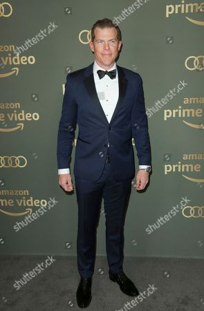 Kevin Walsh arrives at the Amazon Golden Globes afterparty at the Beverly Hilton Hotel, in Beverly Hills, Calif