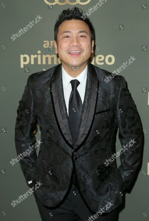 Christian Moralde arrives at the Amazon Golden Globes afterparty at the Beverly Hilton Hotel, in Beverly Hills, Calif