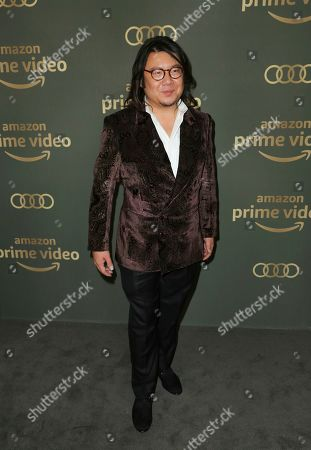 Kevin Kwan arrives at the Amazon Golden Globes afterparty at the Beverly Hilton Hotel, in Beverly Hills, Calif