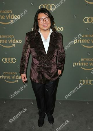 Stock Photo of Kevin Kwan arrives at the Amazon Golden Globes afterparty at the Beverly Hilton Hotel, in Beverly Hills, Calif