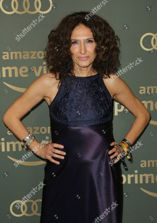 Francesca Fanti arrives at the Amazon Golden Globes afterparty at the Beverly Hilton Hotel, in Beverly Hills, Calif