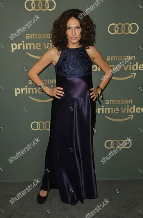 Stock Image of Francesca Fanti arrives at the Amazon Golden Globes afterparty at the Beverly Hilton Hotel, in Beverly Hills, Calif
