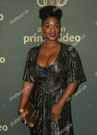 Yaani King Mondschein arrives at the Amazon Golden Globes afterparty at the Beverly Hilton Hotel, in Beverly Hills, Calif