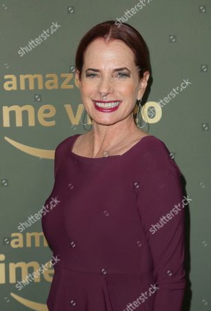 Donna Rosenstein arrives at the Amazon Golden Globes afterparty at the Beverly Hilton Hotel, in Beverly Hills, Calif