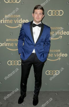 Joel Johnstone arrives at the Amazon Golden Globes afterparty at the Beverly Hilton Hotel, in Beverly Hills, Calif