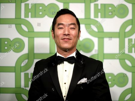 Leonardo Nam arrives at the HBO Golden Globes afterparty at the Beverly Hilton Hotel, in Beverly Hills, Calif