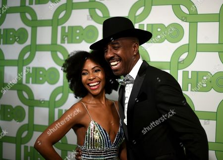 Shahidah Omar, J. B. Smoove. Shahidah Omar, left, and J. B. Smoove arrive at the HBO Golden Globes afterparty at the Beverly Hilton Hotel, in Beverly Hills, Calif