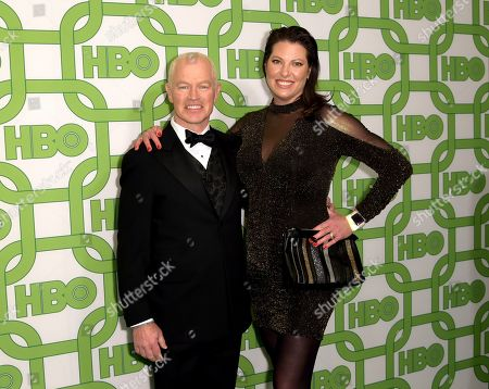 Neal McDonough, Ruve McDonough. Neal McDonough, left, and Ruve McDonough arrive at the HBO Golden Globes afterparty at the Beverly Hilton Hotel, in Beverly Hills, Calif