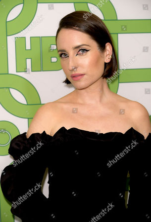 Zoe Lister-Jones arrives at the HBO Golden Globes afterparty at the Beverly Hilton Hotel, in Beverly Hills, Calif